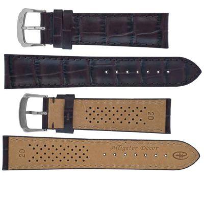 Ремешки для часов Rhein Fils Alligator Decor Luxe 1731 коричневые