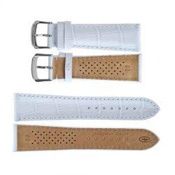Ремешки для часов Rhein Fils Alligator Decor Luxe 1731 белые